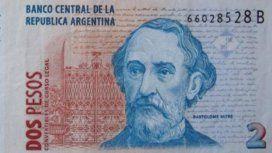 En mayo desaparecerán los billetes de dos pesos