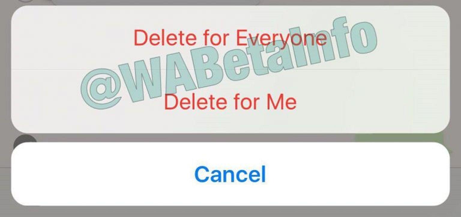 ¡Al fin! WhatsApp ya permite eliminar mensajes enviados