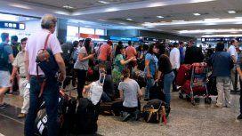 Previo al paro, ya había 37 vuelos cancelados en Ezeiza y Aeroparque