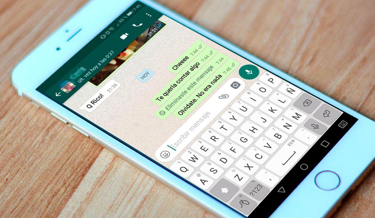 ¿Cómo activar la opción de eliminar mensajes enviados en WhatsApp?