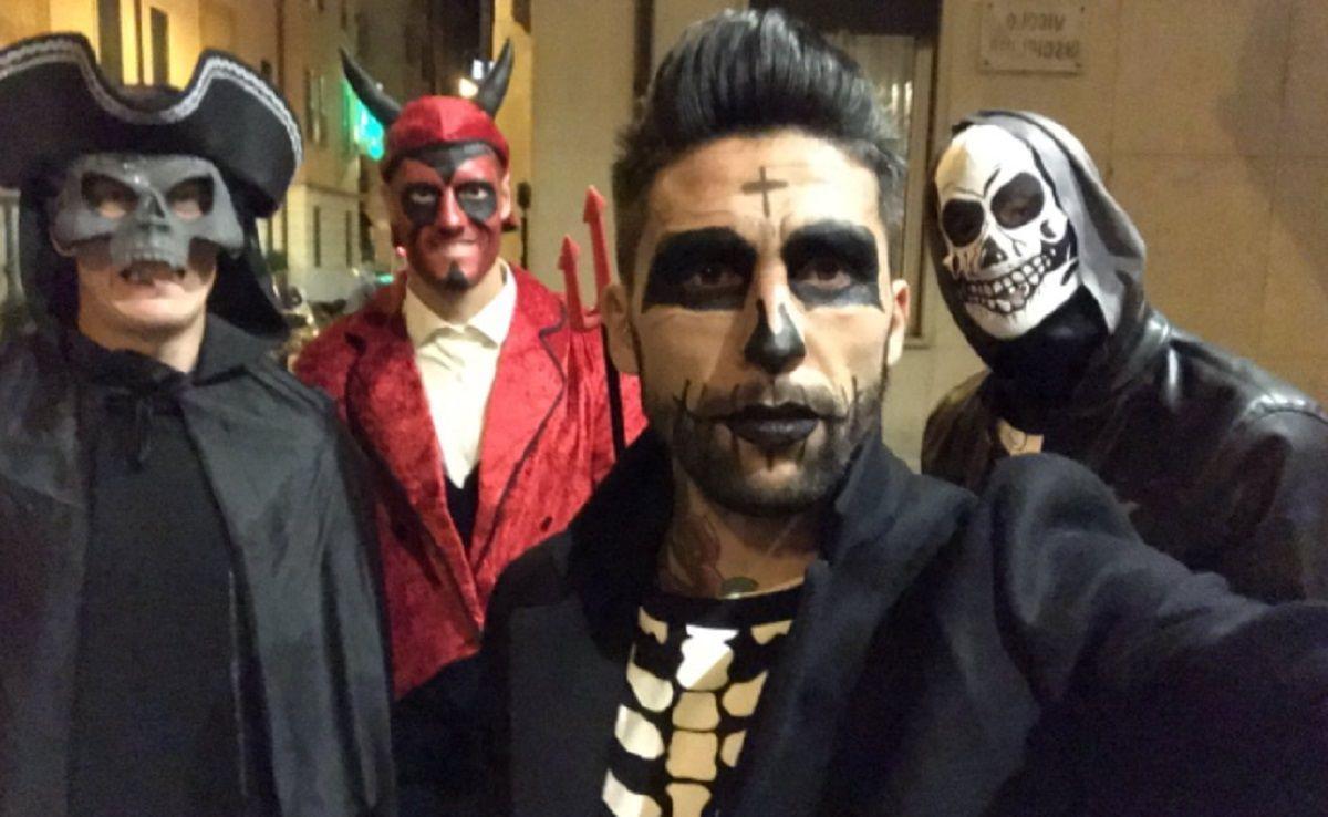 Lucas Pata Castro se disfrazó para festejar Halloween en Italia