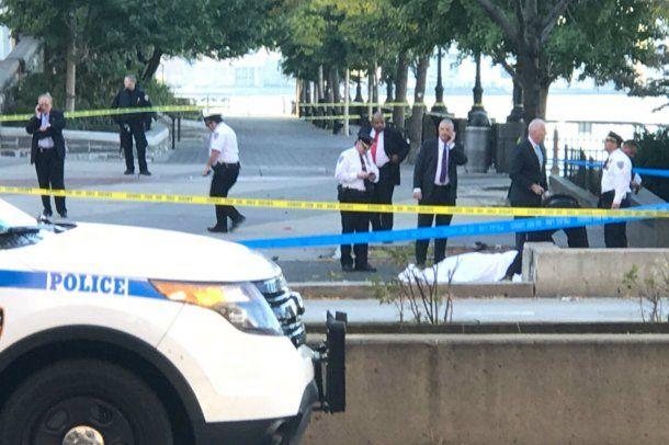 Una persona quedó detenida tras el tiroteo en el centro de Nueva York