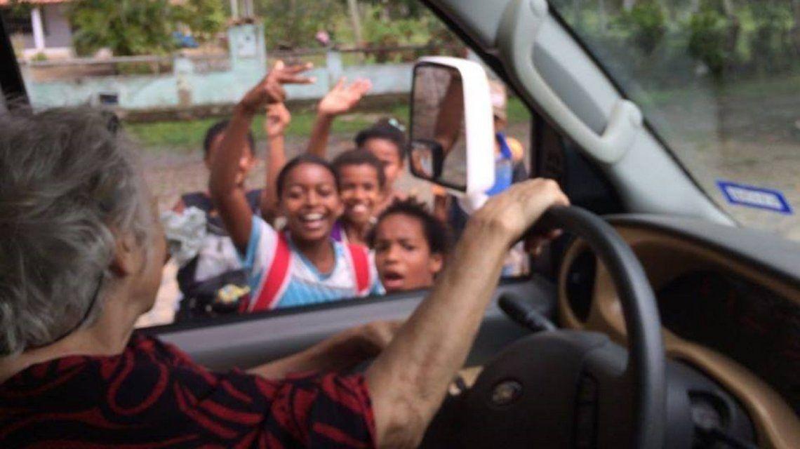 Sara en Brasil. Foto: cortesía de Soledad Arostegui