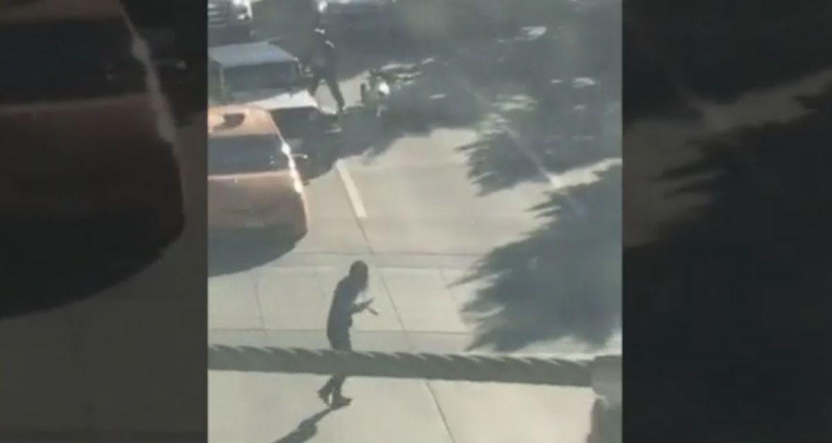 El video del momento en que el atacante de Manhattan se baja del auto e intenta huir
