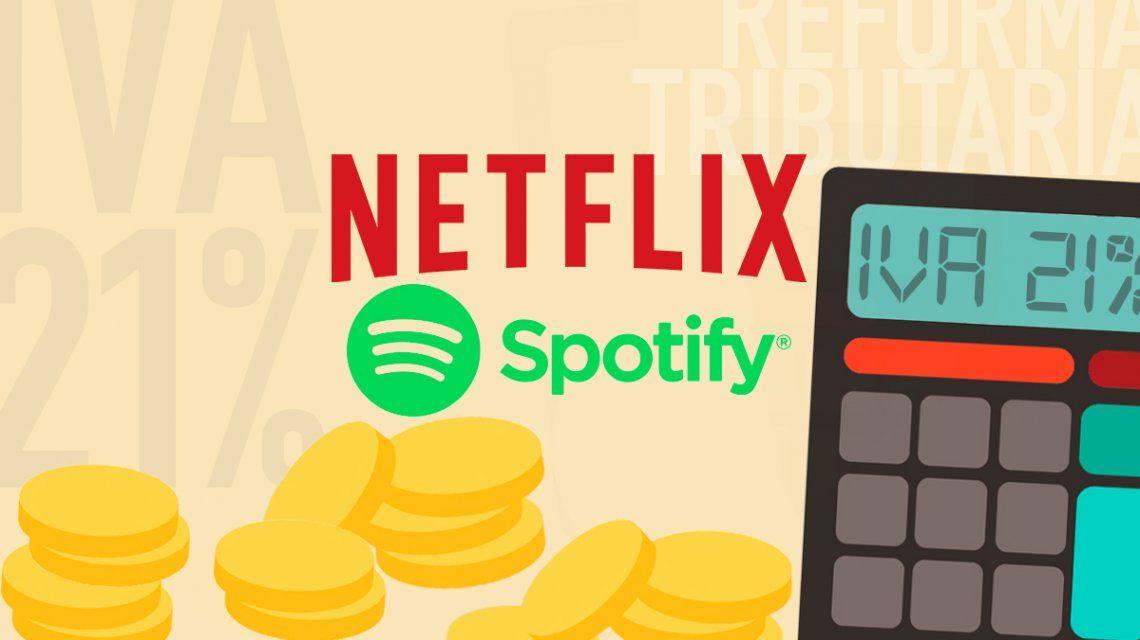 ¿Cuánto costarán Netflix y Spotify si se aprueba la reforma tributaria?