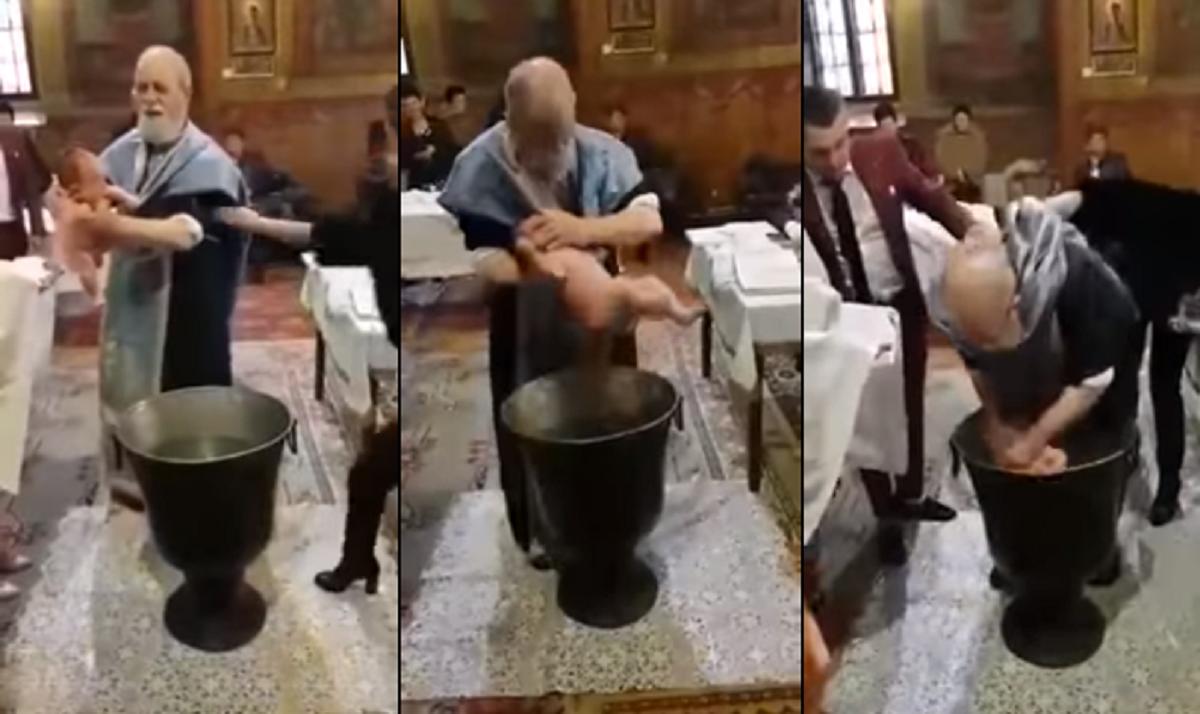 Un sacerdote maltrata a un recién nacido en pleno bautismo porque no paraba de llorar