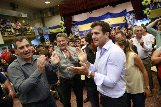 Christian Gribaudo, secretario general de Boca, encabezó la comitiva.<br>