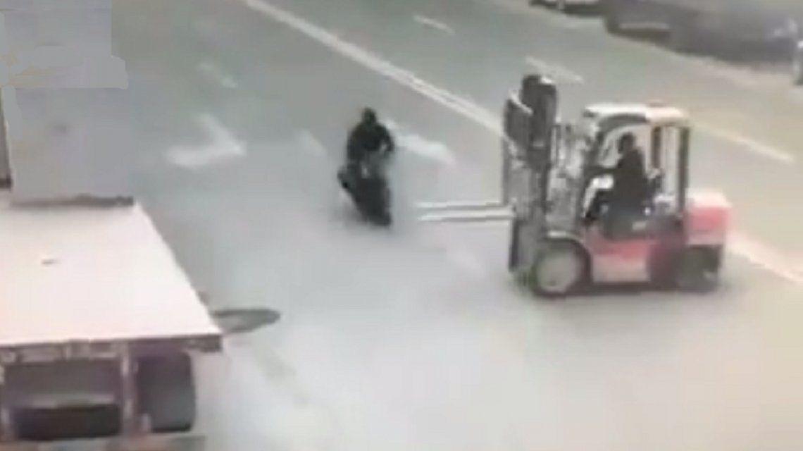 VIDEO: Éste es el peor accidente en moto
