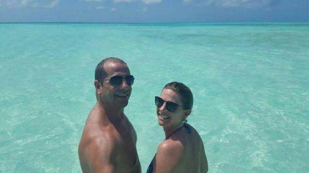 <p>Ariel Benvenuto y su esposa, Cecilia Piedrabuena.</p>
