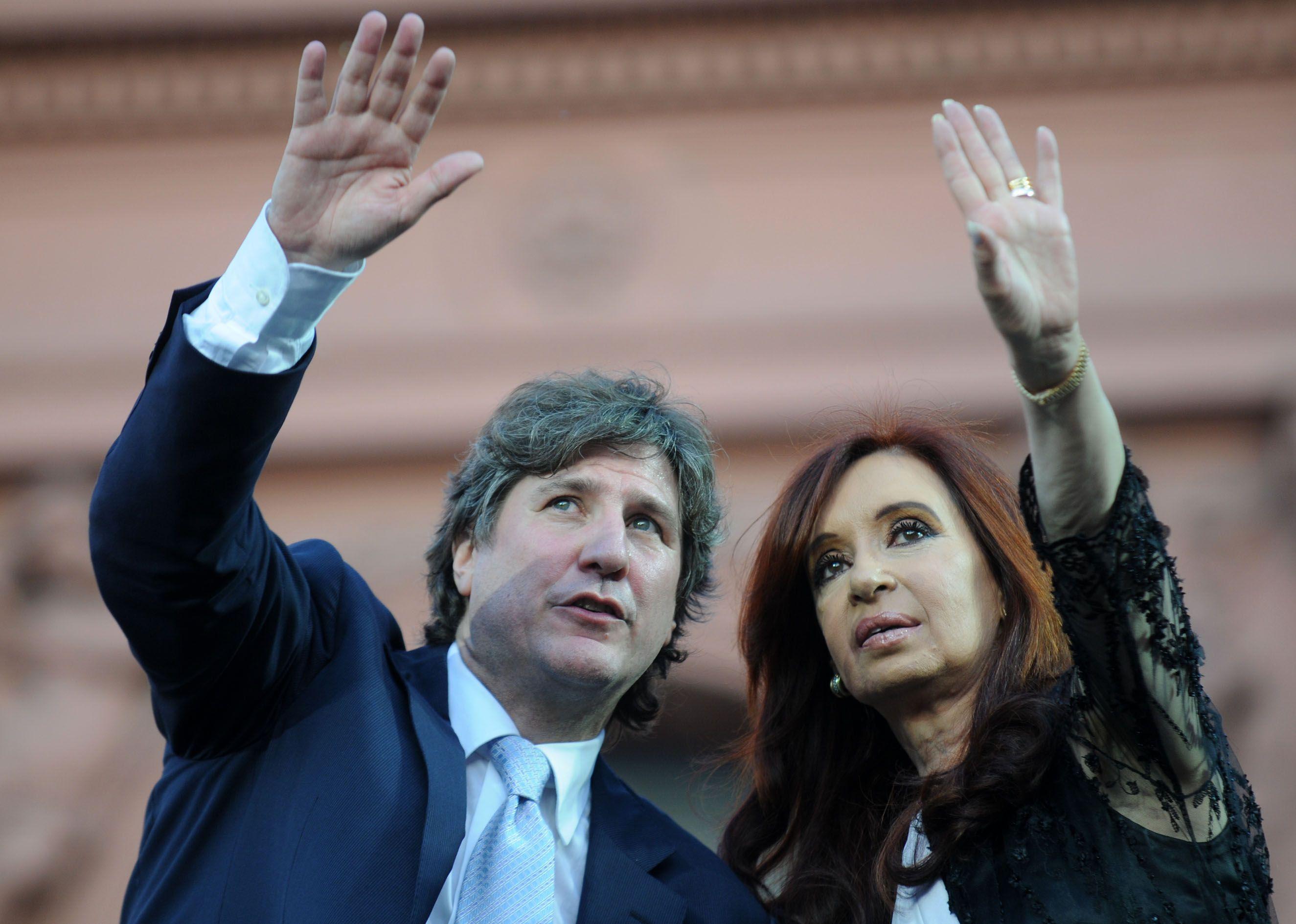 Amado Boudou y Cristina Kirchner