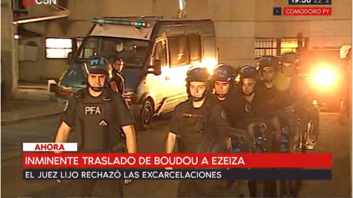 Boudou fue trasladado al penal de Ezeiza
