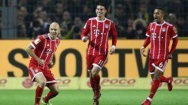 El golazo de Robben con ayuda de James del que habla todo Europa