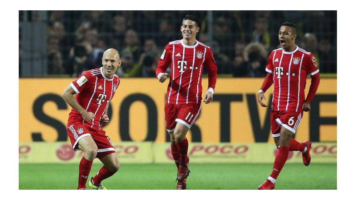 VIDEO: El golazo de Robben con ayuda de James del que habla todo Europa