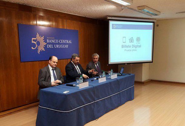 El Banco Central del Uruguay presentó el plan piloto para utilizar el billete digital<br>