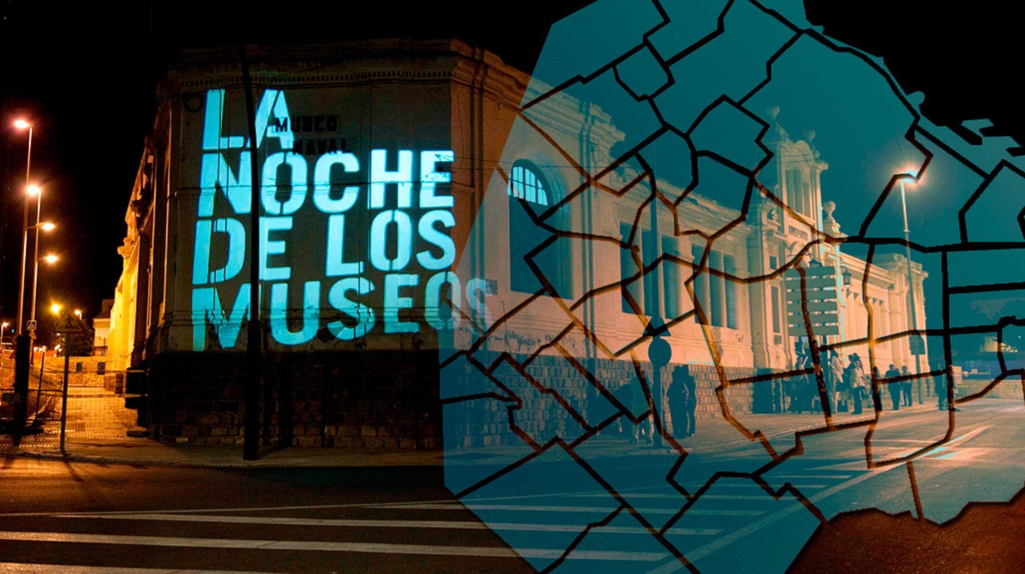 El mapa de La Noche de los Museos