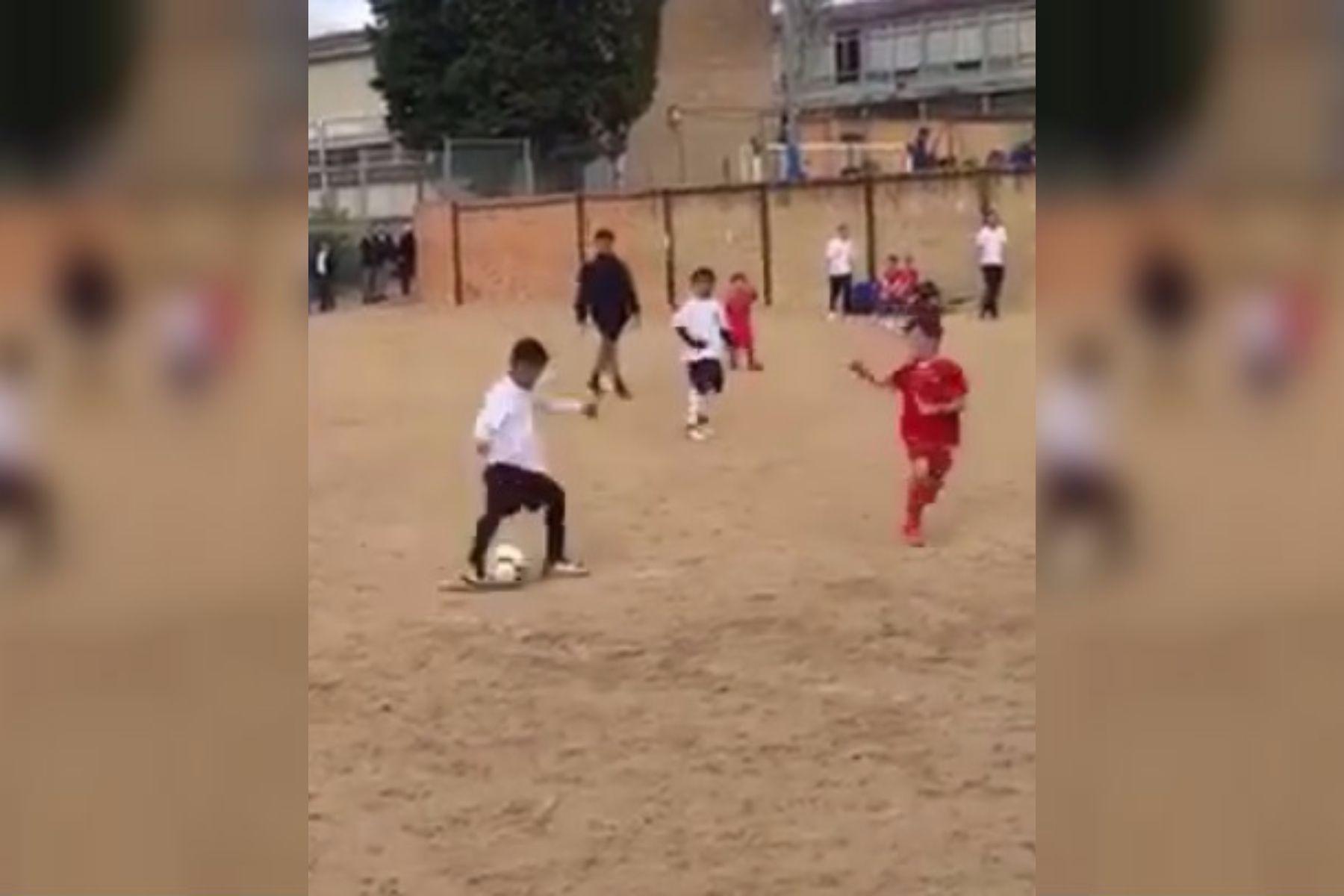 ¡Igualito! El hijo de Cristiano Ronaldo sorprendió a todos con su pegada