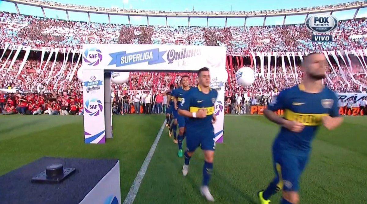 Los jugadores de Boca salieron segundos