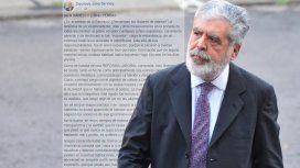 En otra dura carta, Julio De Vido tildó de ortiva a José Luis Gioja