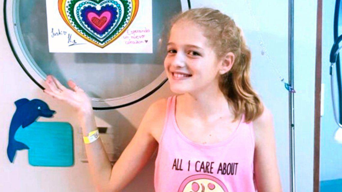 Falleció Justina Lo Cane, la nena que esperaba un corazón