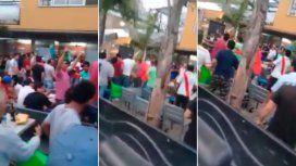 Violencia en Tucumán: la feroz pelea entre hinchas de River y Boca en un bar