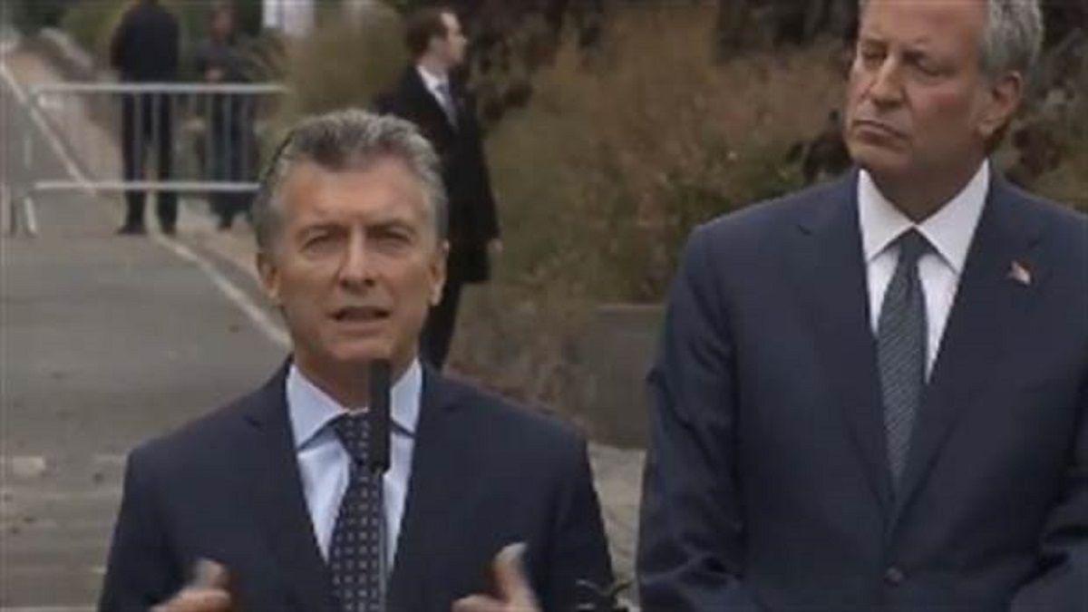 Macri en el homenaje a las víctimas argentinas en Nueva York: El terrorismo no conoce nacionalidades