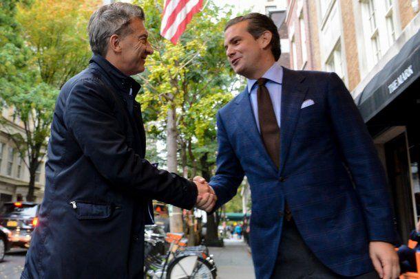 <p>Macri encabezó al alcalde de Nueva York, Bill de Blasio, el acto en homenaje a los cinco rosarinos </p><p></p>