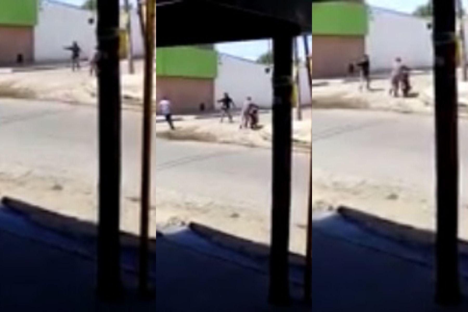 VIDEO: Robaron una carnicería y escaparon a los tiros