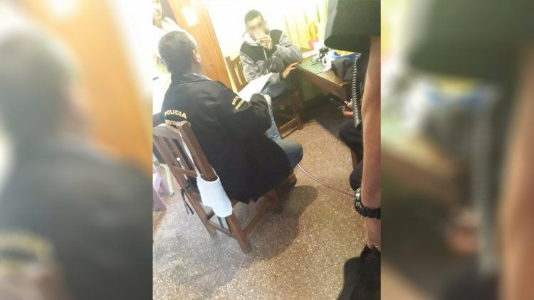El adolescente fue detenido en la casa de un familiar