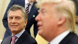Trump elogió la política económica de Macri y su equipo