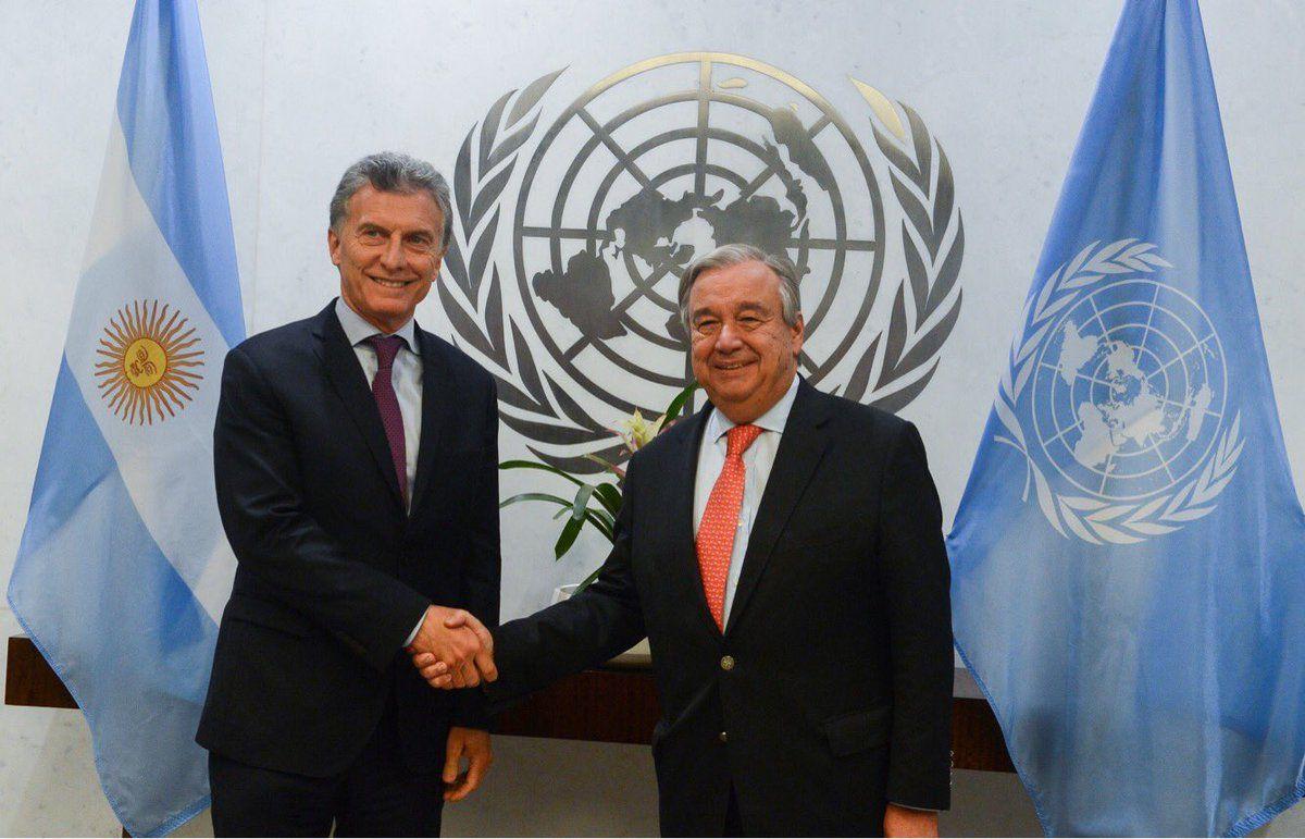 Mauricio Macri se reunió con António Guterres