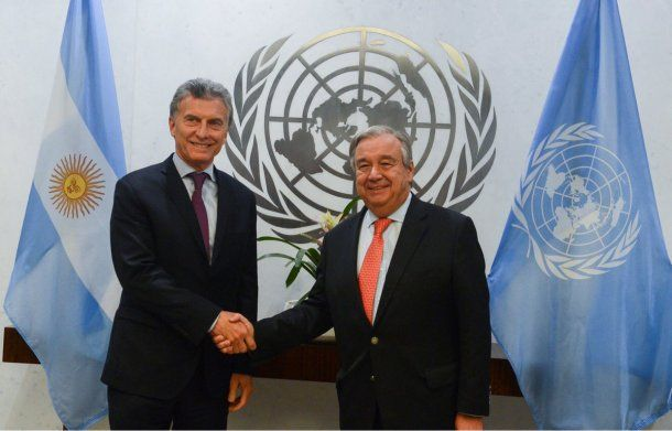 Mauricio Macri se reunió con António Guterres, secretario General de la Organización de las Naciones Unidas.
