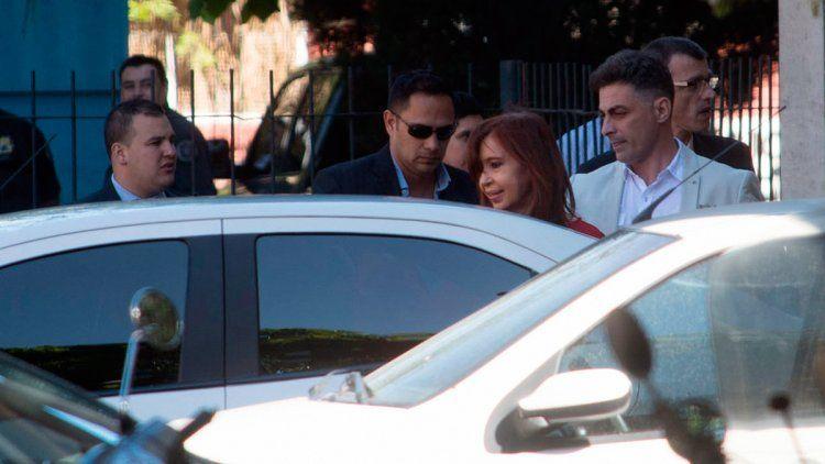 Cristina en los tribunales de Retiro