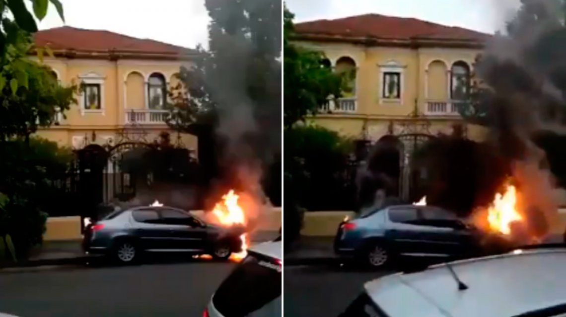 Zaffaroni denunció el incendio de dos autos frente a su domicilio
