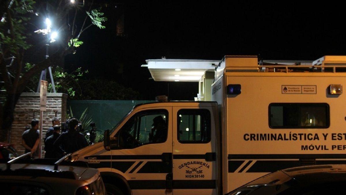 Allanamiento en la casa de Diego Lagomarsino en Talar de Martínez