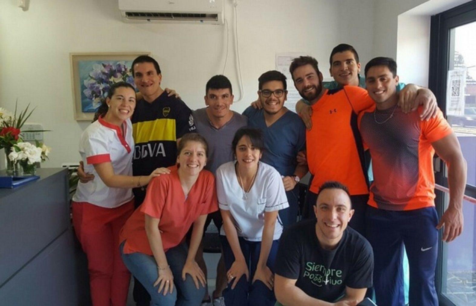 Francisco Ríos y Emanuel Godoy se reencontraron en un centro de rehabilitación en Paraná.
