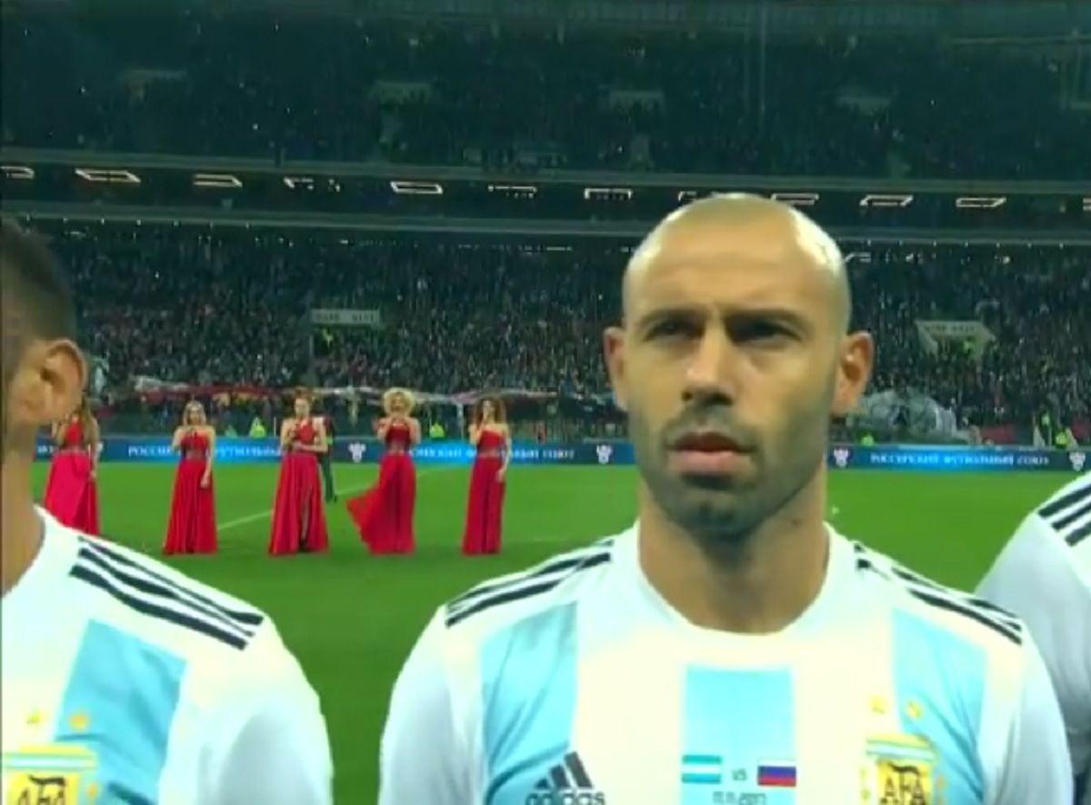 VIDEO: Así sonó el himno argentino en el estadio Luzhniki