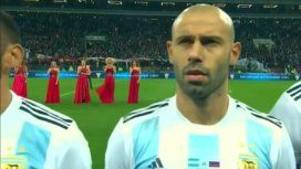 ¡Ya nos sentimos en el Mundial! Así sonó el himno argentino en Rusia