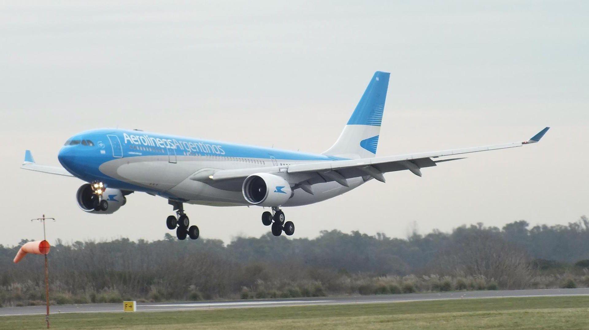 El vuelo venía de Río Gallegos