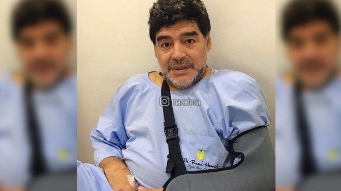 Maradona fue operado de su hombro izquierdo
