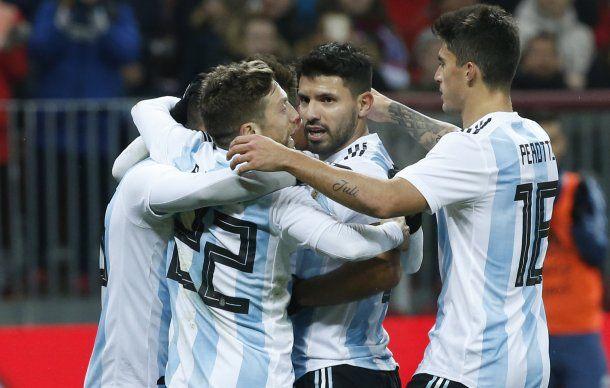 El Kun Agüero, autor del gol ante Rusia, volverá a ser titular