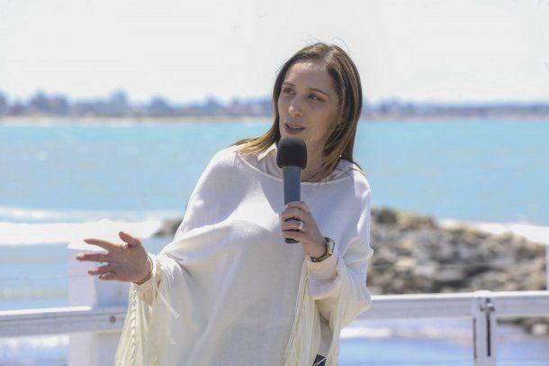 María Eugenia Vidal durante el anuncio de una serie de beneficios para los turistas que visiten Mar del Plata