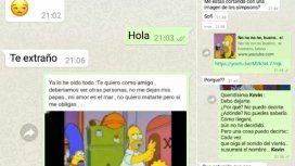 El viral en Twitter: le cortó a su novio por WhatsApp con memes de los Simpsons