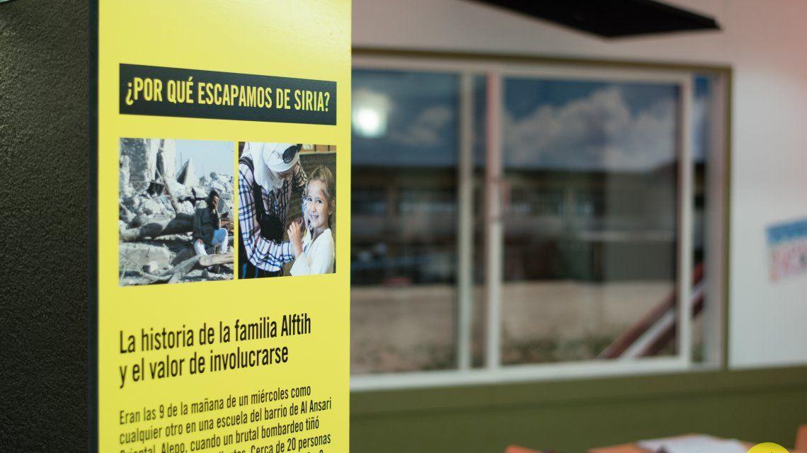 Recrean un aula siria en el subte porteño para concientizar sobre la crisis de los refugiados