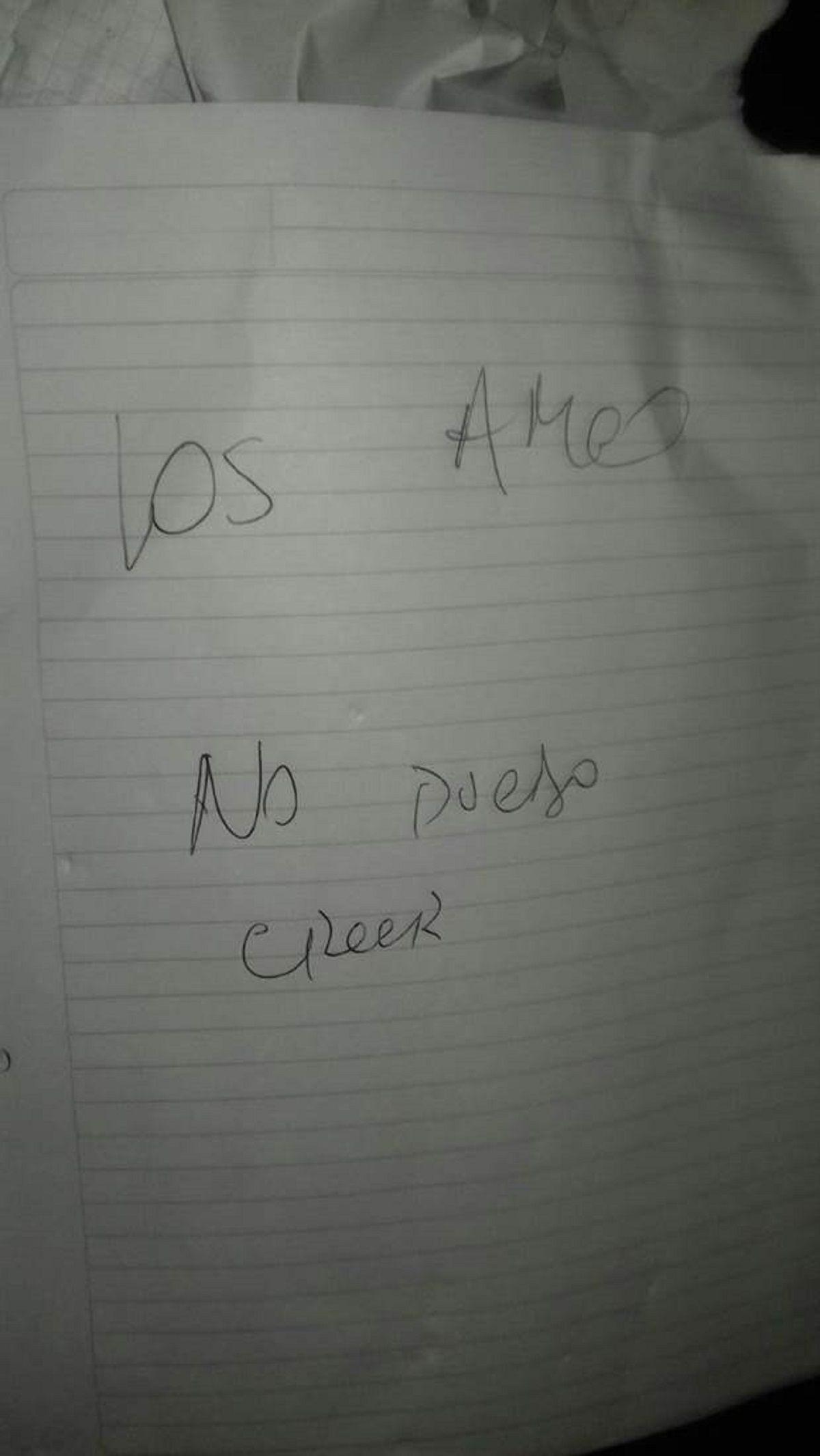 Encontraron una nota entre las pertenencias de Delhon