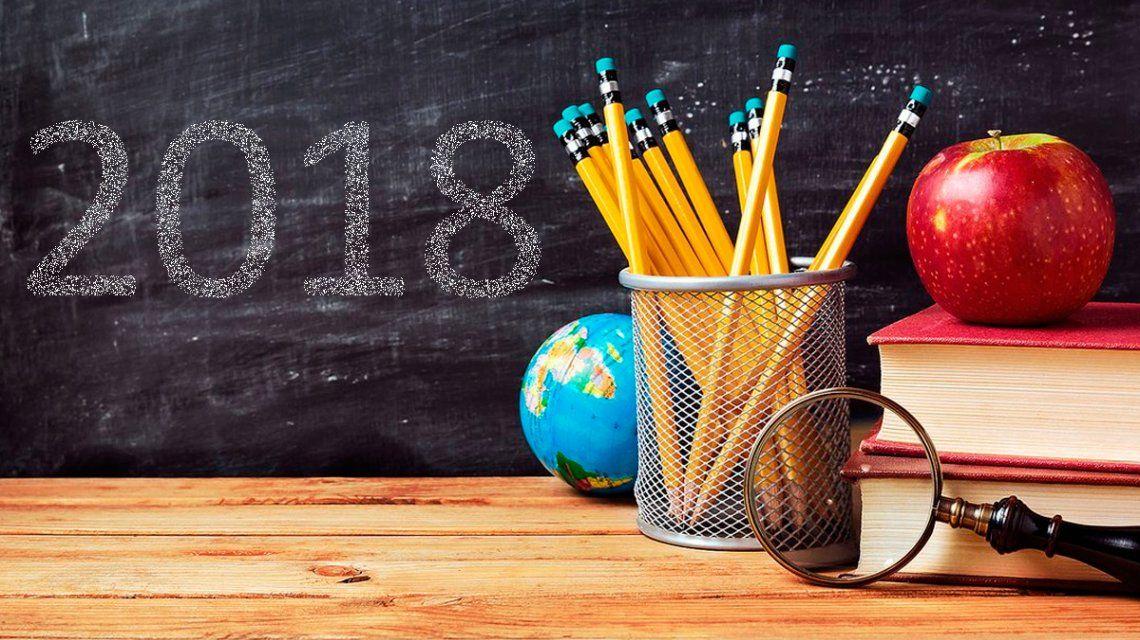 Ciclo lectivo 2018: las clases comenzarán antes