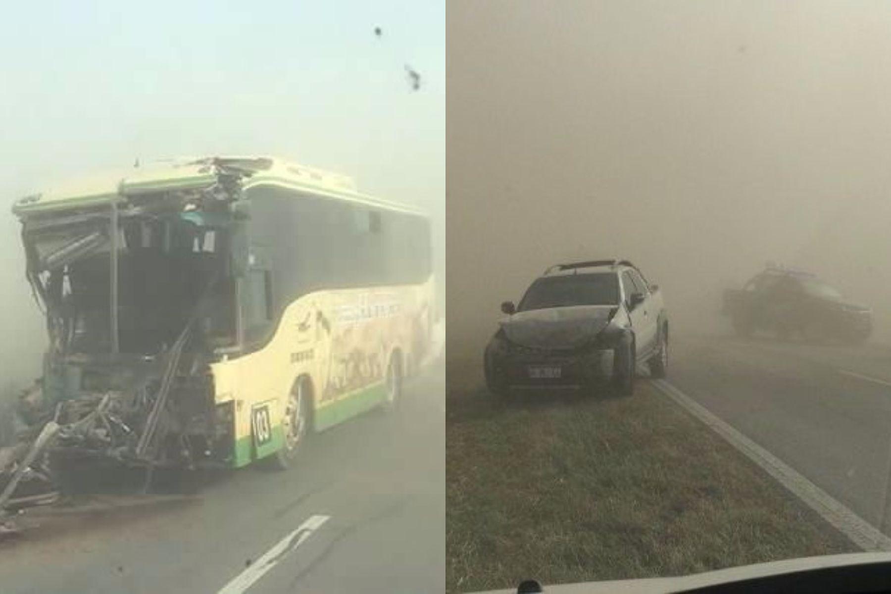 El temporal provocó varios choque en Rosario.