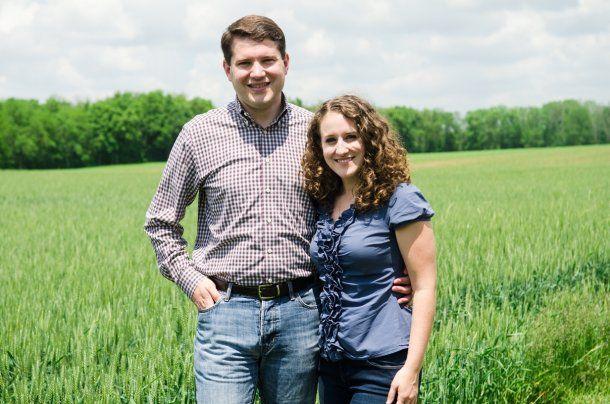 Goodman y su esposa