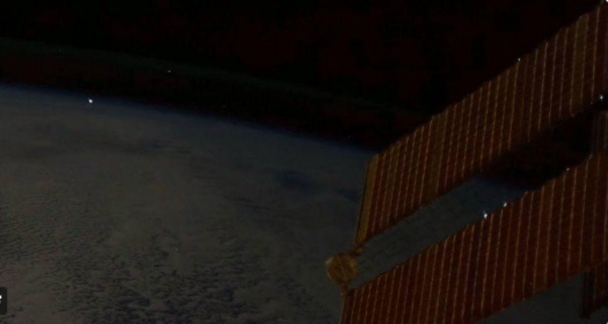 Un meteorito cayó a la Tierra y este astronauta lo captó en el momento exacto