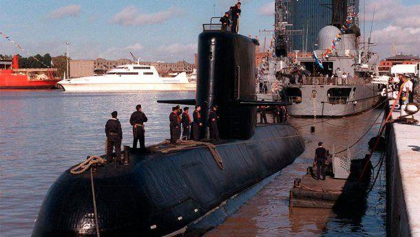 Submarino ARA San Juan. Imagen de archivo.