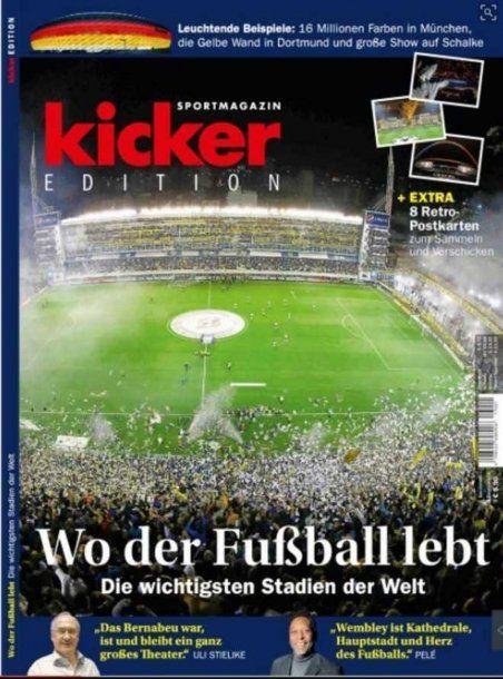 La portada de la revista alemana que destacó a la Bombonera como el estadio más importante del mundo<br>